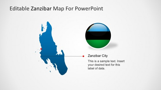 Zanzibar Map Editable PowerPoint Template