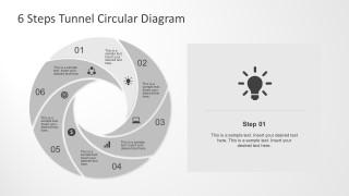 Editable 6 Steps Diagram for PowerPoint