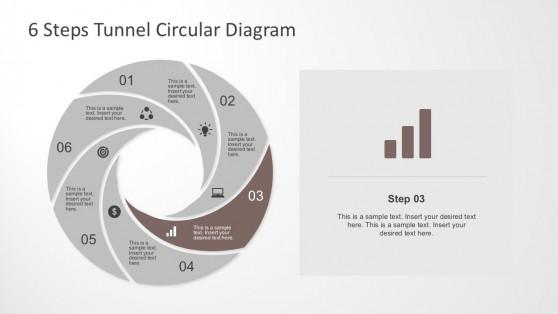 Camera Shutter Shape Diagram for PowerPoint
