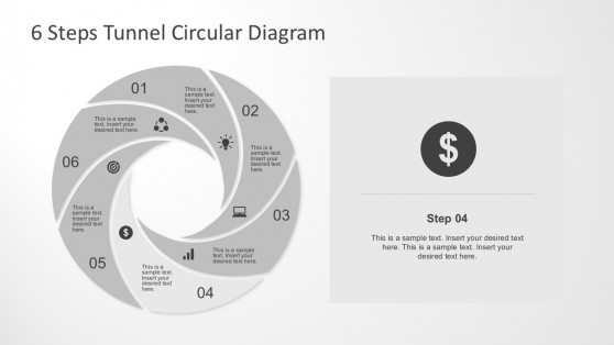 6 Steps Circular Process Diagram PowerPoint