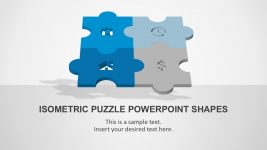 Isometric Puzzle PowerPoint Templates