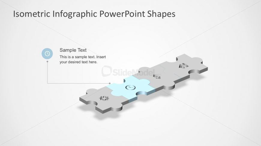 Simple Puzzle Diagram for PowerPoint