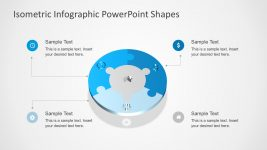 Editable Circle Puzzle Diagram for PowerPoint
