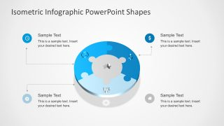 Circular Puzzle Diagram with PowerPoint Icons