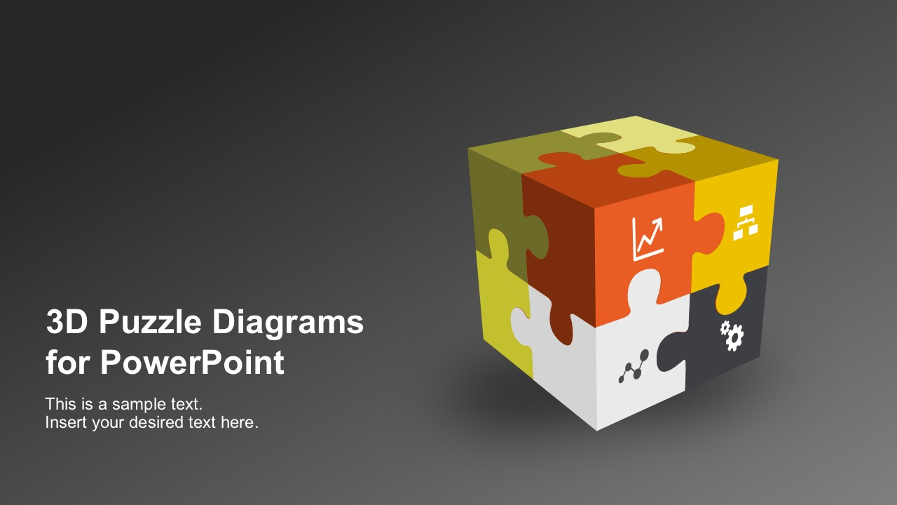 3d puzzle diagram powerpoint templates alramifo Image collections