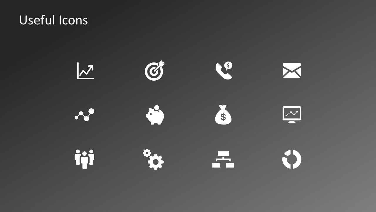 Useful Business PowerPoint Icons Vectors - SlideModel