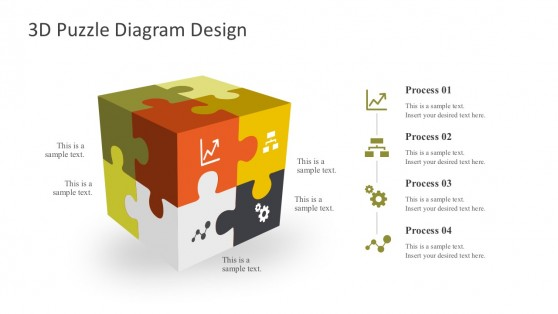 3D Puzzle Box PowerPoint Templates