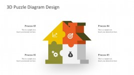 House Puzzle Diagrams Design PowerPoint Shapes