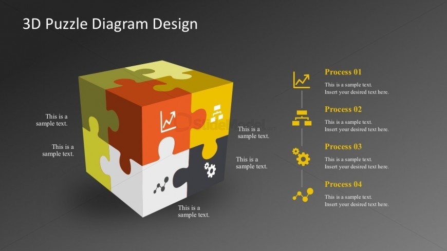 Puzzle Process Rubik Diagrams PowerPoint Shapes