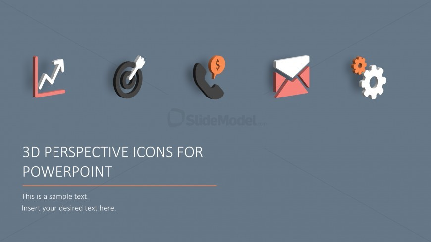 Business Icons with 3D Effects for PowerPoint