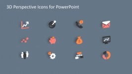 Business Icons in 3D for PowerPoint Infographics