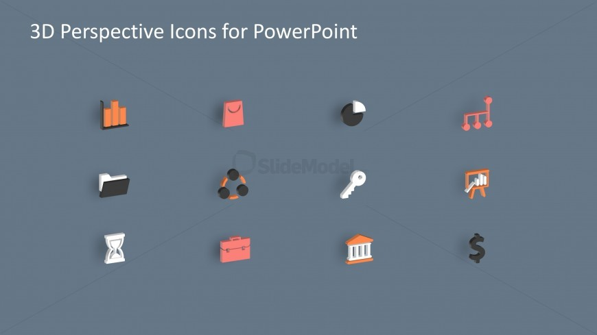 3D PPT Icons with 3D Effects