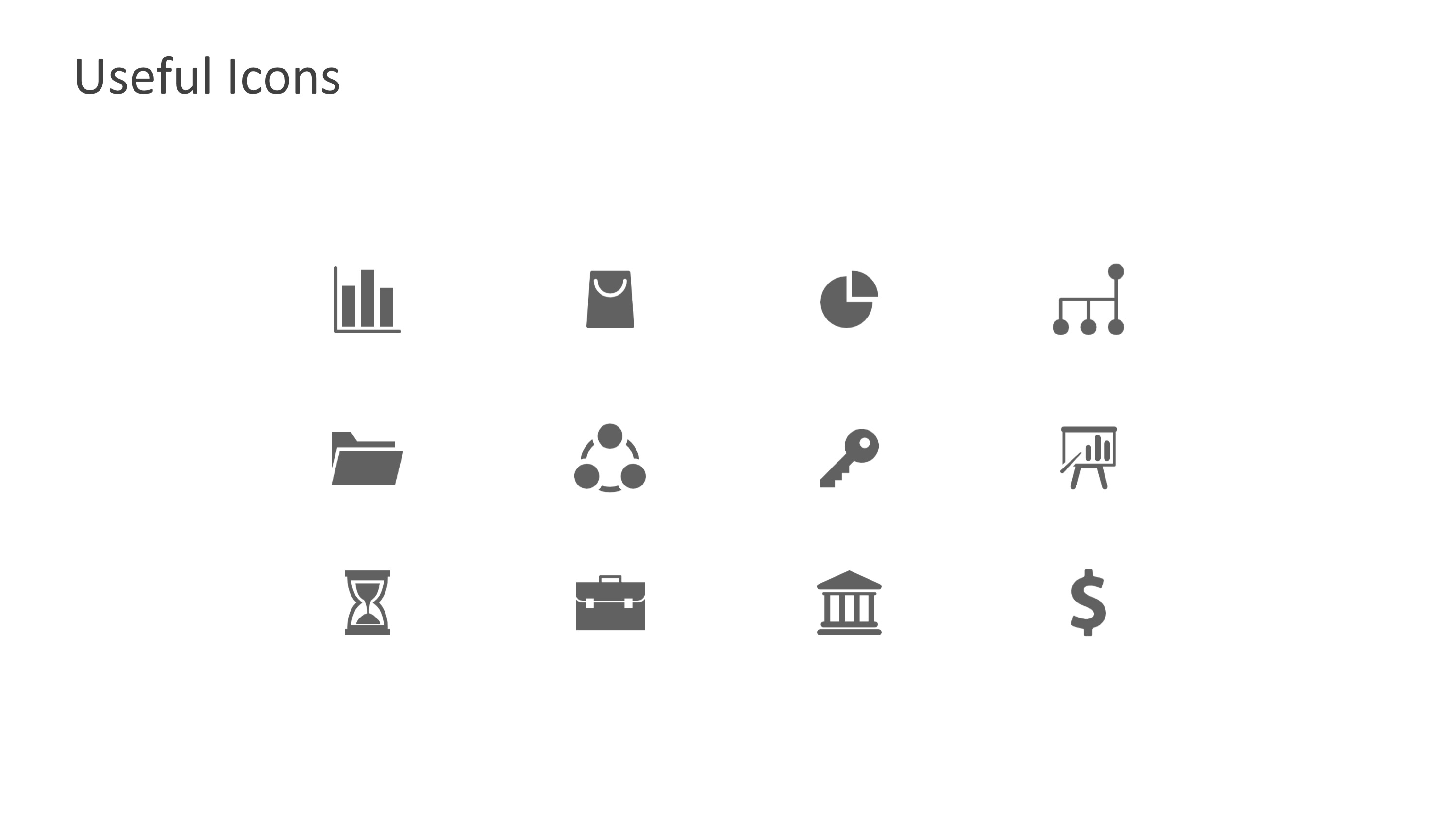 PPT Icons Flat Design