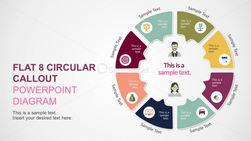 Flat Circular Infographics Diagram Slides