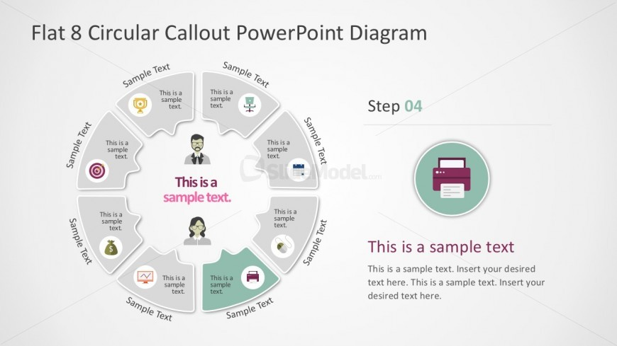 Callout Process Diagrams PowerPoint Presentation