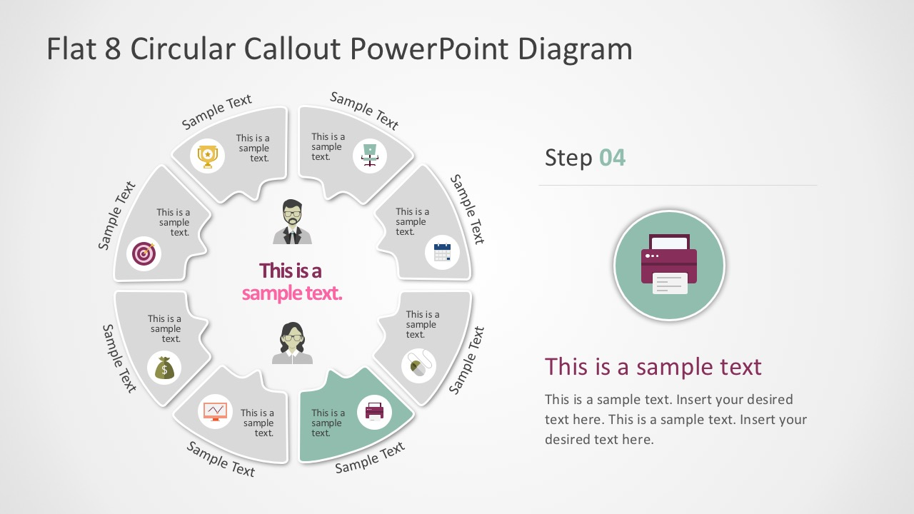 Callout Process Diagrams PowerPoint Presentation