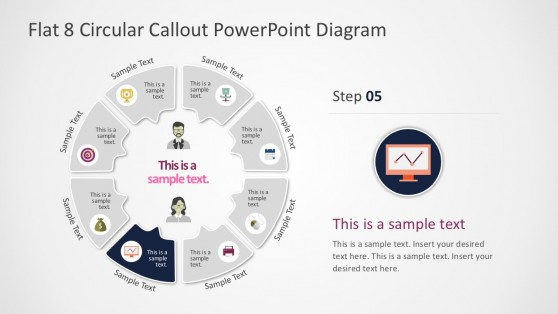 8 Steps Callouts PowerPoint Circular Slides