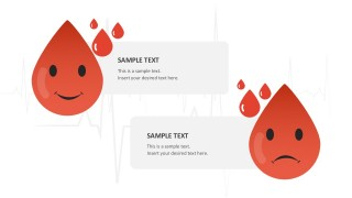 Editable Blood Drop PowerPoint Shapes