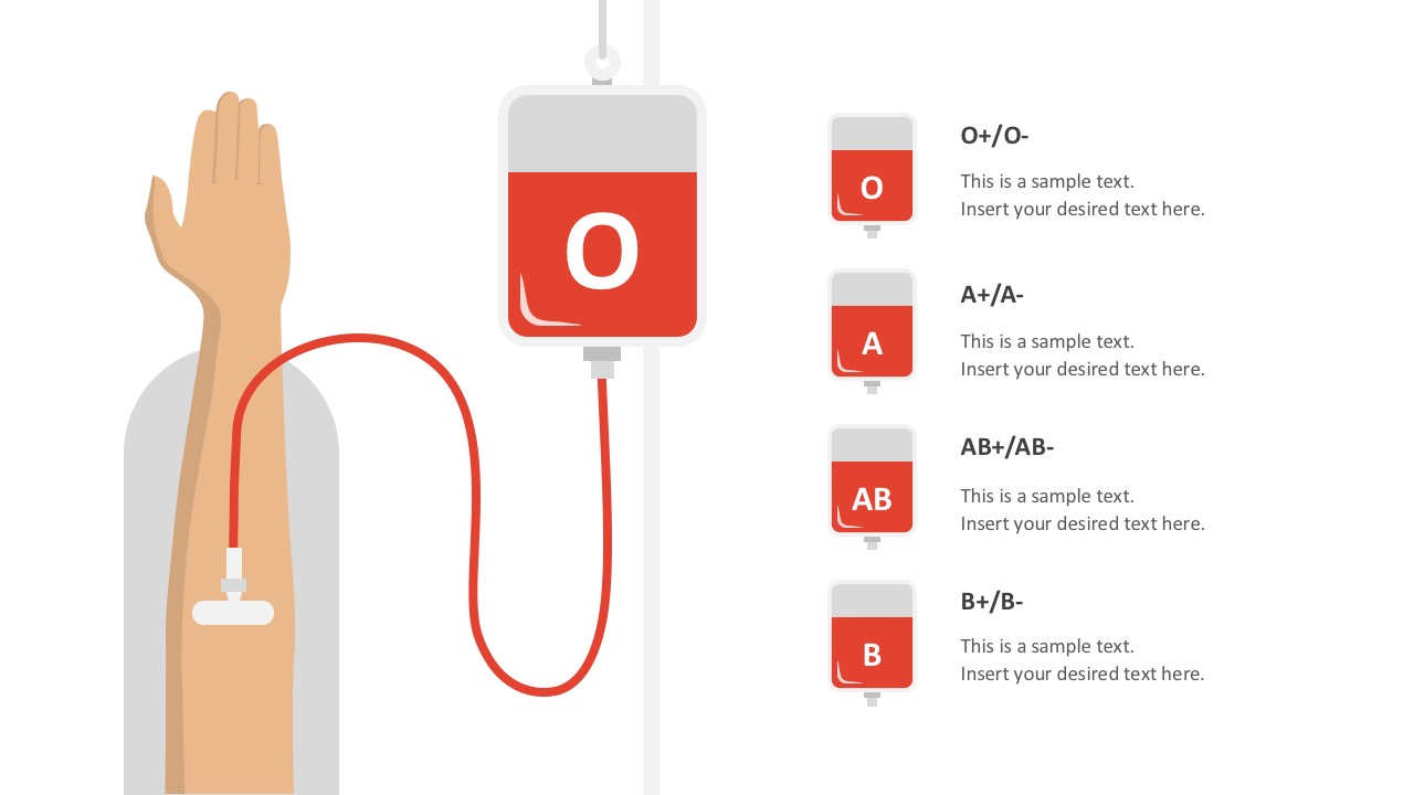 blood bank donation powerpoint template, Powerpoint templates