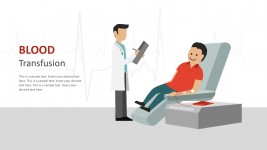 Creative Blood Transfusion PowerPoint Illustrations