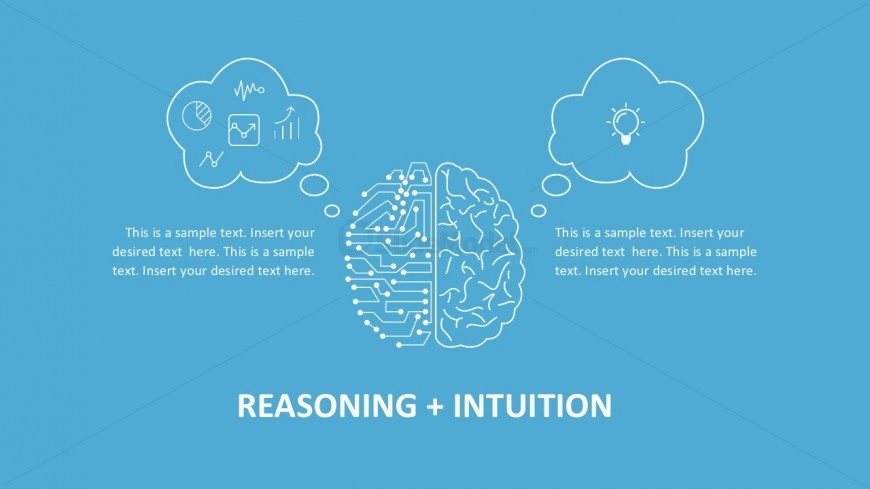 Left Right Brain PowerPoint Infographics