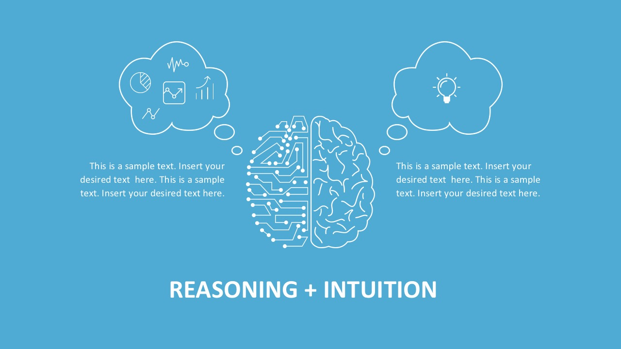 Left Right Brain PowerPoint Infographics
