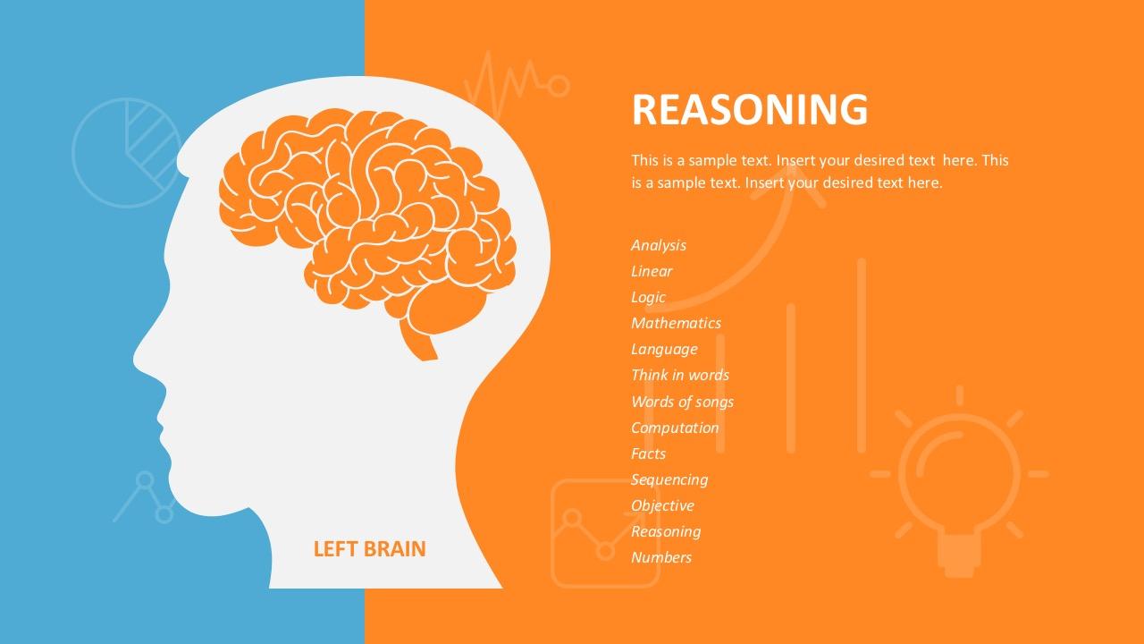 Left Brain Slide Design For PowerPoint