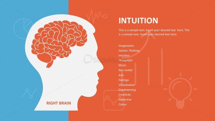 Right Brain Slide PowerPoint Vectors