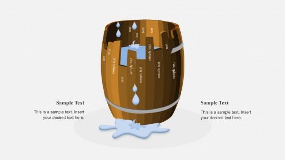 Editable Barrel PowerPoint Shapes
