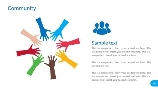 Editable Hand Community PowerPoint Vectors