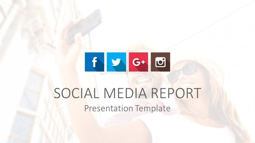 Social Media PowerPoint Template Cover SlideModel - Social media report template