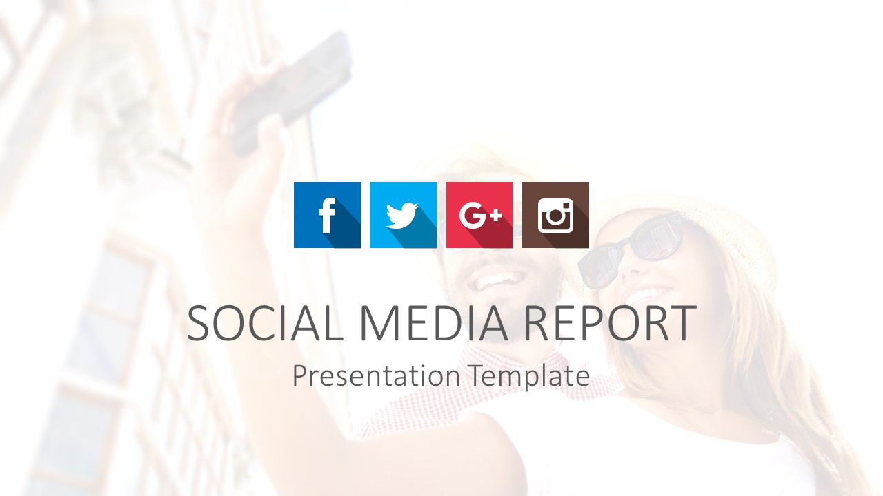 Social Media Report PowerPoint Templates - SlideModel