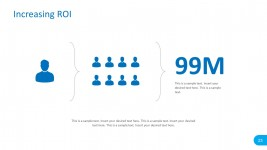 ROI Template for PowerPoint with Numbers Holder