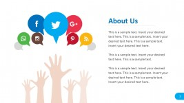 Social Media About Us Report Template