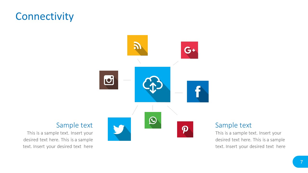 social media report powerpoint templates slidemodel