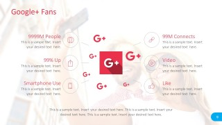 Google Plus Icons and Shapes for PowerPoint