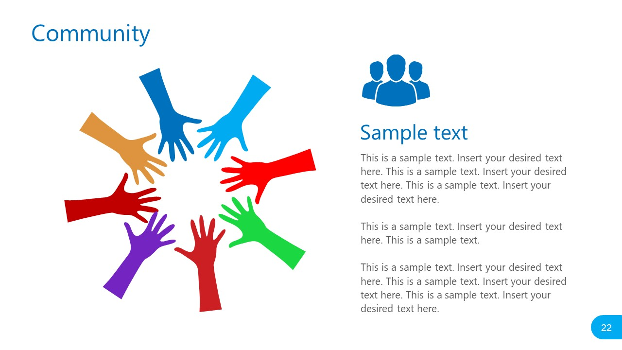 Template of Group Hands Online Community