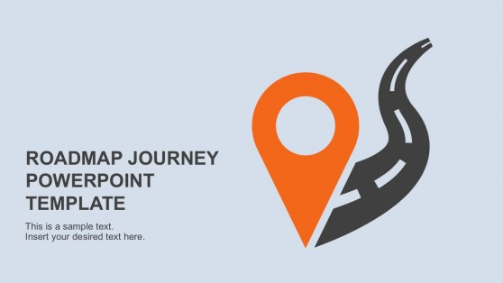 Career roadmap template for Powerpoint sitemap template