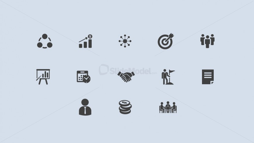 Editable PowerPoint Icons for Business Success
