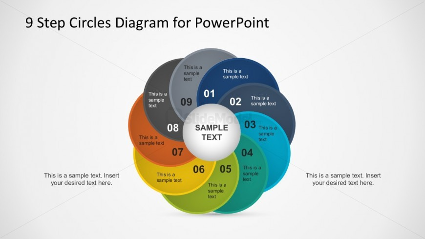 9 Steps Circles Diagram PowerPoint Template