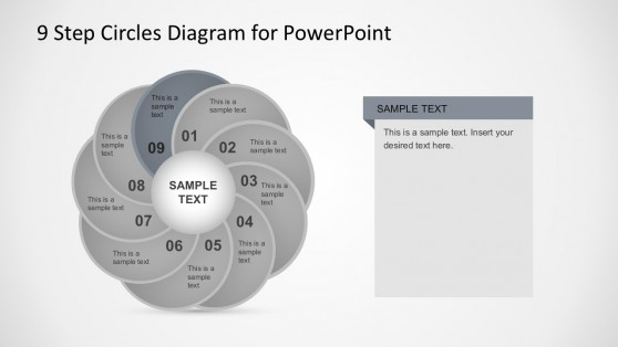 Segmented Circular Diagram PowerPoint Template