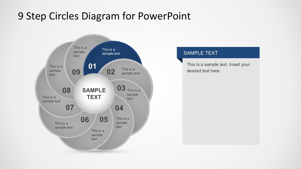 Editable Circle Chart PowerPoint Slides
