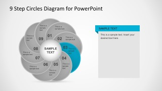 9 Stages Circle Diagrams PowerPoint Templates
