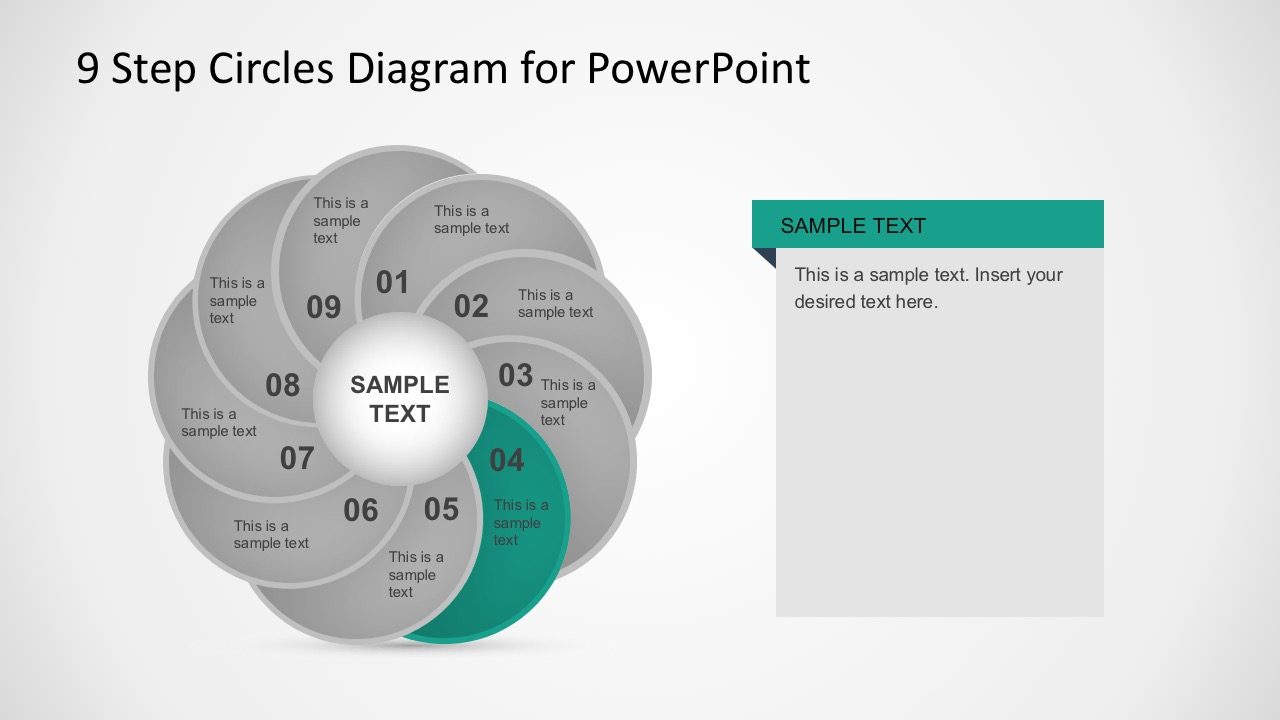 Colorful Circle Steps Diagrams PowerPoint