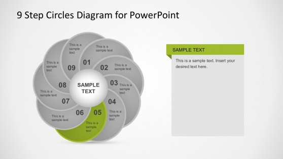 9 Concepts Slides Circle Diagrams PowerPoint