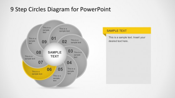 PowerPoint Cycle Diagrams with 9 Steps