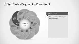Flat Circle Diagram PowerPoint Vectors