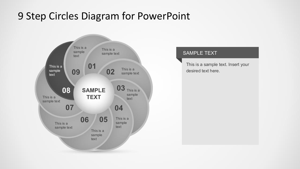 Flat Circle Diagram PowerPoint Vectors