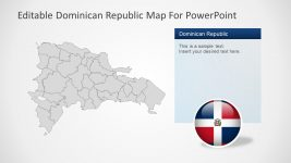 Dominican Republic Flag Circular Icon