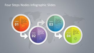 Four Steps Circular Badge PowerPoint Infographics